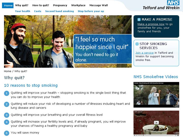 Stop Smoking NHS campaign site